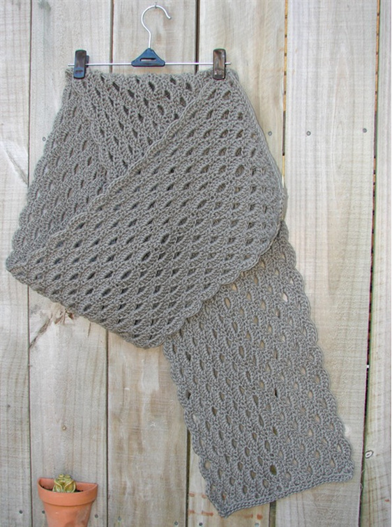 Crochet Shell Wrap