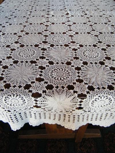 Crochet Table Cloth - 135cm x160cm