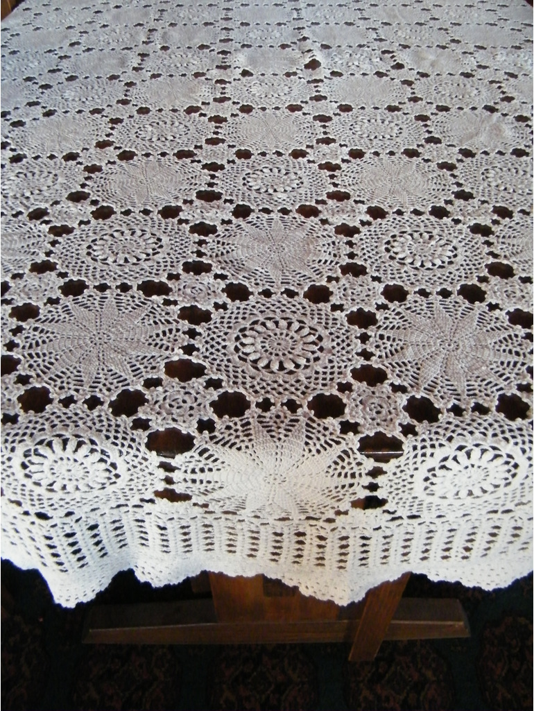 crochet table cloth wedding and event hire