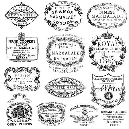 Crockery IOD Decor Stamp