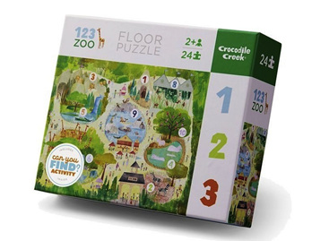 Crocodile Creek 24 Piece Floor Puzzle: 123 Zoo