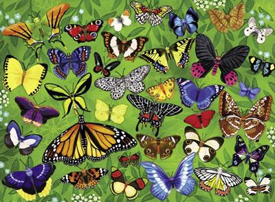 Crocodile Creek 300 Piece  Puzzle: 36 Butterflies