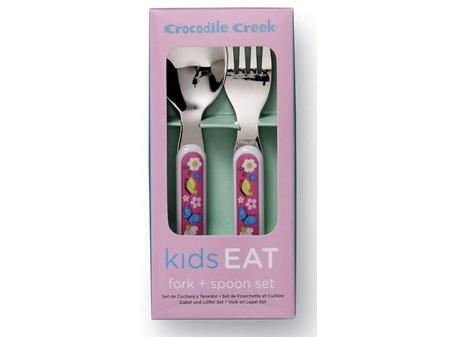 Crocodile Creek Cutlery Set - Backyard Friends