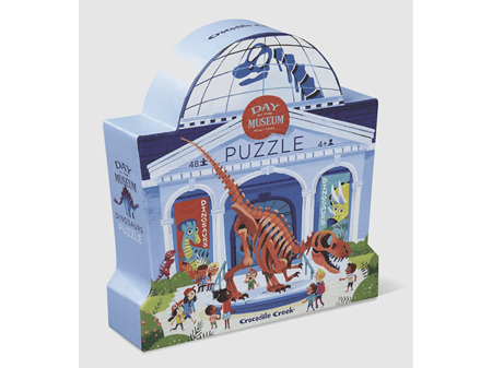 Crocodile Creek Day at the Museum Dinosaurs 48 Piece Puzzle