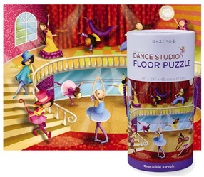 Crocodile Creek Floor Puzzle Dance Studio 50 piece Jigsaw Puzzle