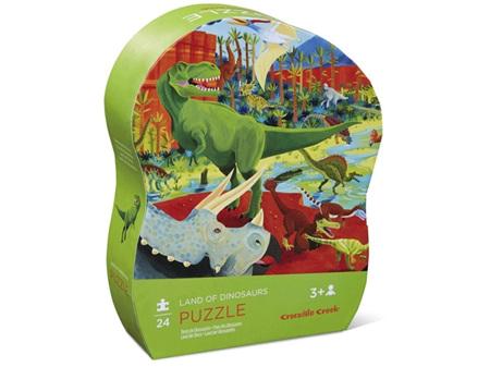 Crocodile Creek Land of Dinosaurs 24 Piece Puzzle