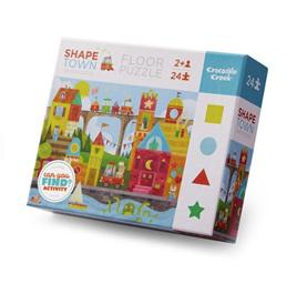 Crocodile Creek 24 Piece Floor Jigsaw Puzzle: SHAPE Town