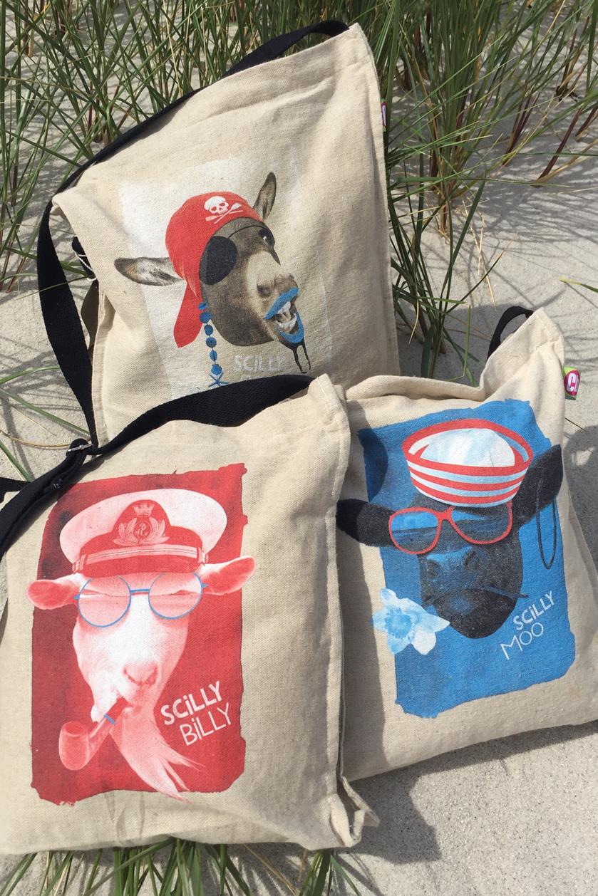 Hemp & cotton cross-body bags
