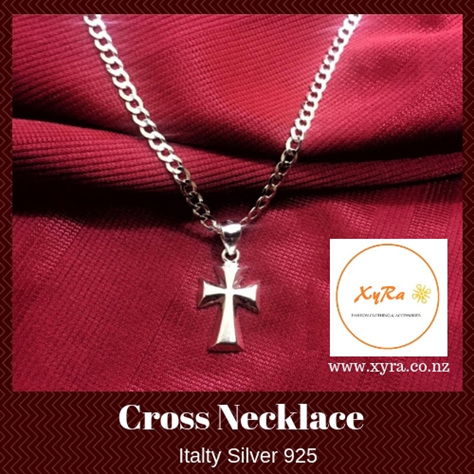 Cross Italy Silver Necklace