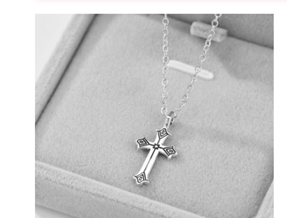Cross Necklace - Silver Chain