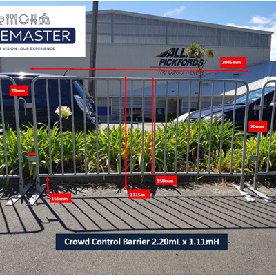 Crowd Barrier Fence 2.20mL x 1.10mH