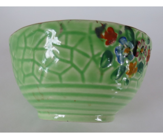 Crown Devon green bowl