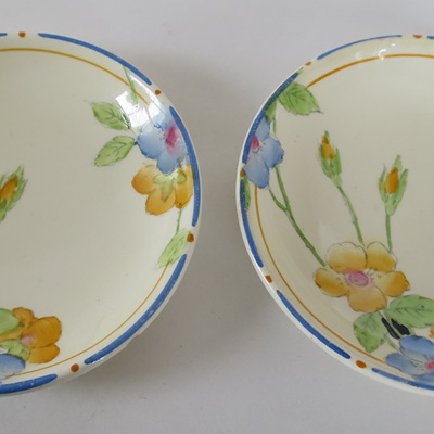 Pair Crown Ducal pin dishes