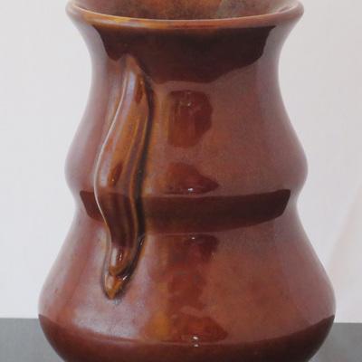 Small dark brown vase