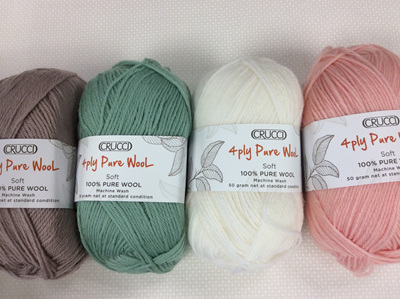 Crucial 4ply Pure Wool