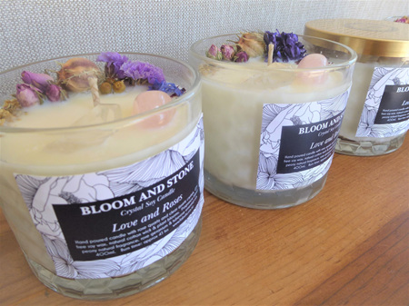 Crystal & Botanical Soy Candle