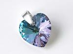 Crystal Heart Pendant - Vitrail Light