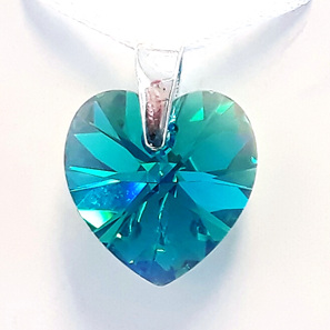 Crystal Pendant - Blue Zircon