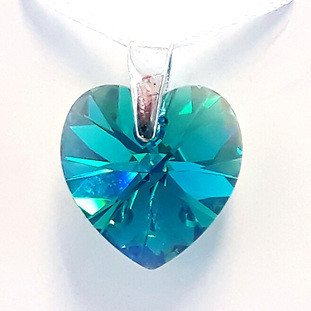 Crystal Pendant - Blue Zircon