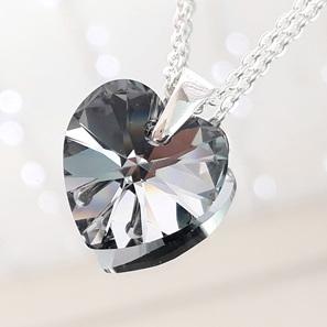 Crystal Pendant - Chrome