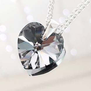 Crystal Pendant - Chrome