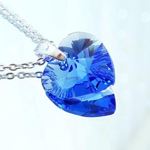 Crystal Pendant - Sapphire
