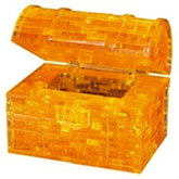 Crystal Puzzle - Gold Treasure Chest