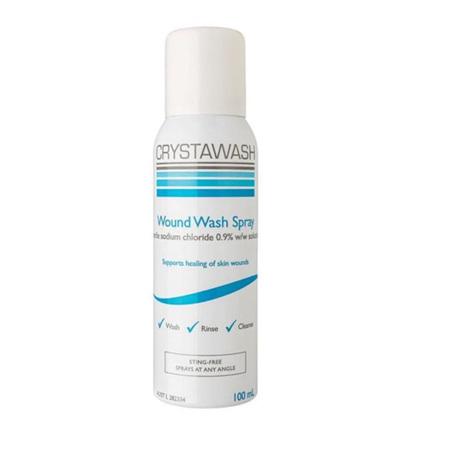 CRYSTAWASH WOUND WASH SPRAY 0.9% 100ML