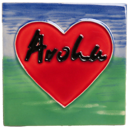 CT104 Aroha heart ceramic wall art