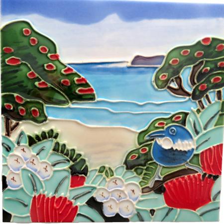 CT109 Tui at the Beach Wall Art