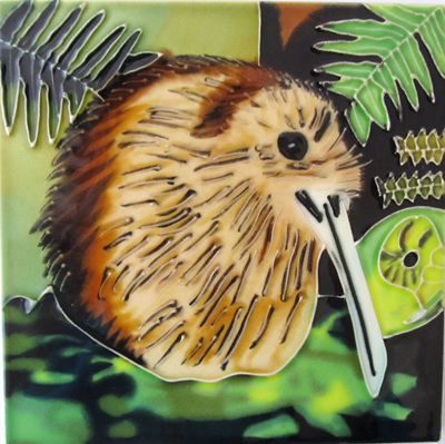 CT31 Ceramic Wall Art Squatting kiwi
