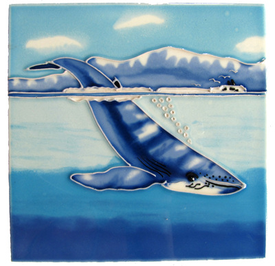 CT61 Ceramic Wall Art Humpback