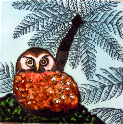 CT65 Ceramic Wall Art Anni's owl