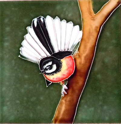 CT78 Ceramic Wall Art Fantail