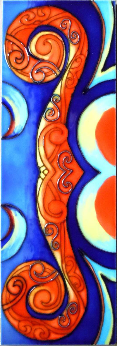 CT86 Ceramic Wall Art Reina orange