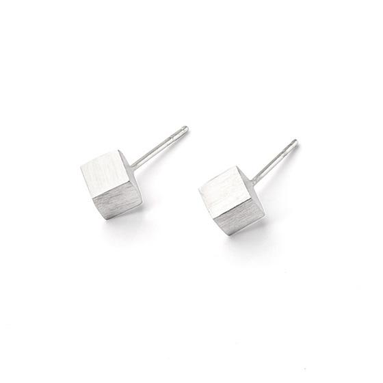 Cube Stud Earrings