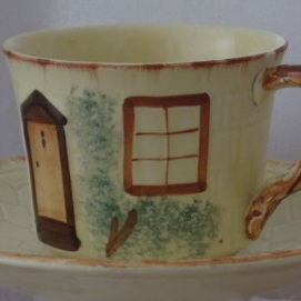 Cup saucer and plate cottage ware