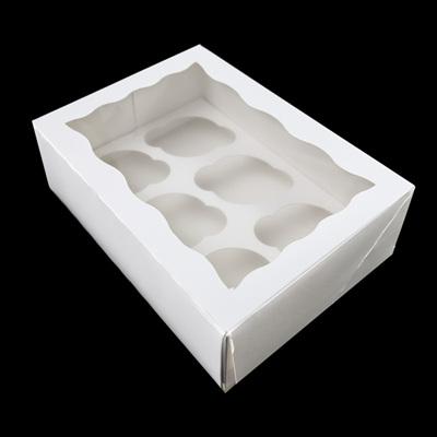 Cupcake Box Range/ White & Brown