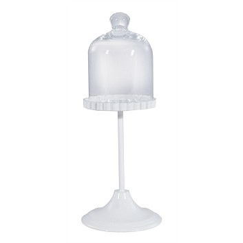 White Cupcake Glass Pedestal Stand