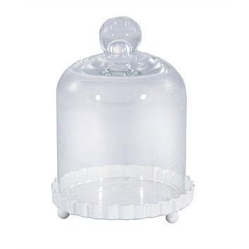 White Cupcake Glass Stand
