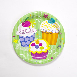 Cupcakes Party Plates