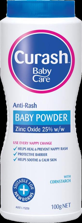 Curash Anti Rash Baby Powder Zinc Oxide 25% 100g