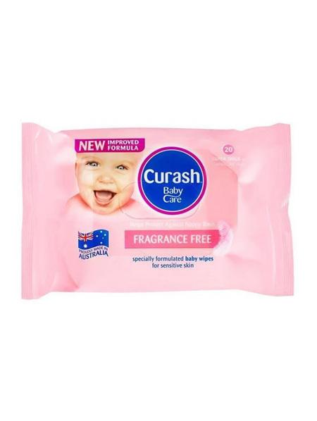 Curash Babycare Fragrance Free Wipes 20