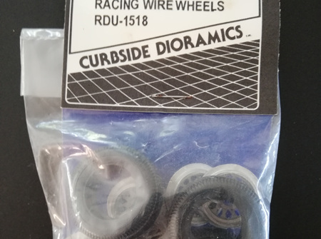 Curbside Dioramics 1/24-1/25 Racing Wire Wheels (RDU-1518)