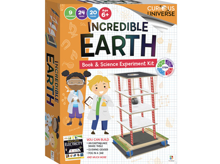 Curious Universe Incredible Earth Book & Science Experiments Kit