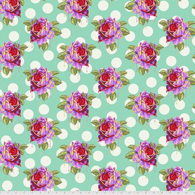Curiouser & Curiouser - Painted Roses - Wonder (Aqua)