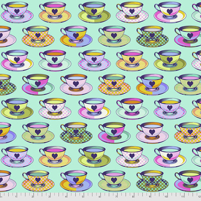 Curiouser & Curiouser - Tea Time - Daydream (Aqua)