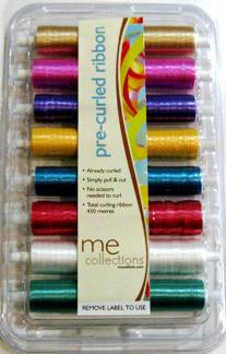 Curling Ribbon plain set of 8 colours (460m total)