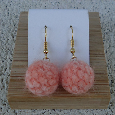 Curly Round Drop Earrings