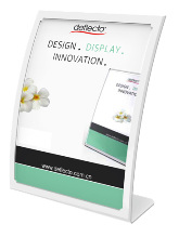 Curved Front Sign/Menu Holder, A4 White 2304W